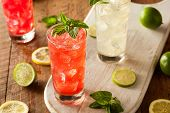 picture of mints  - Organic Fresh Italian Soda with Green Mint - JPG
