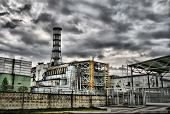 picture of radium  - Chernobyl nuclear power station. 4-th block. Ukraine