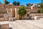 picture of israel people  - Stone brick streets of ancient Jerusalem Israel - JPG
