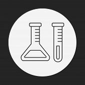 pic of beaker  - Experiment Beaker Line Icon - JPG