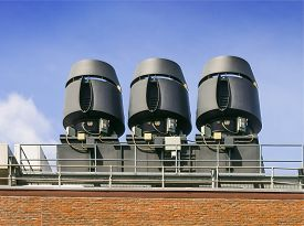 stock photo of noise pollution  - Air exhaust systems to remove fumes in laboratories  - JPG