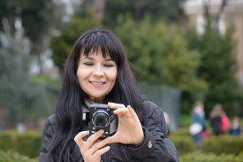 picture of luigi  - Tourist girl in Piazza Bocca della Verit - JPG