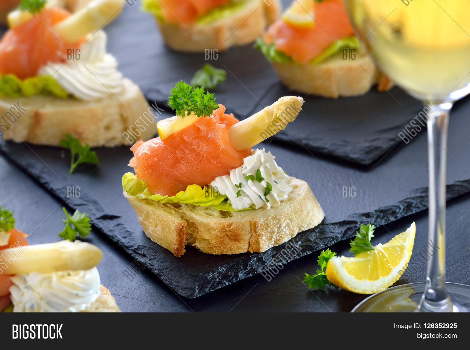 Delicious canapes german white image photo bigstock for Canape caterers