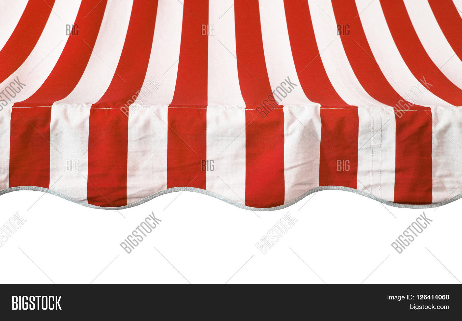 Red White Striped Awning Overhang Image & Photo   Bigstock