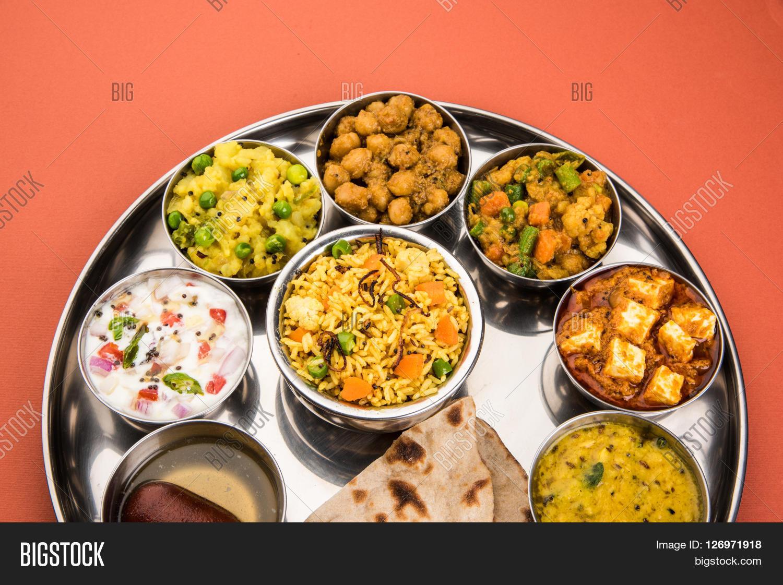 Group Indian Food Indian Thali, Image & Photo | Bigstock