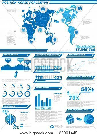INFOGRAPHIC DEMOGRAPHICS POPULATION for web and other