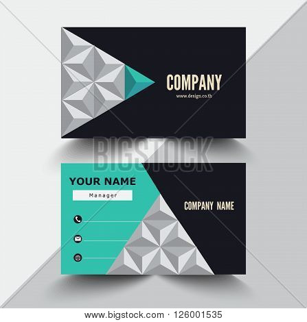 Business card design, can used for name card company template