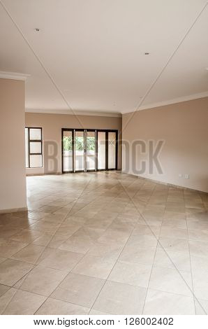 Living Room Of Newly Build House