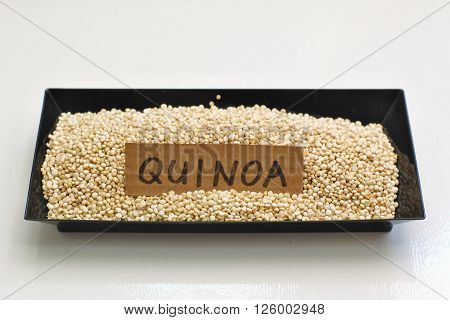Quinoa In The Black Bowl