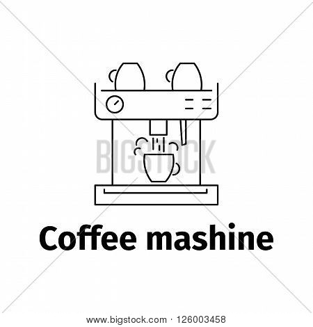 Icon of coffee maker, vector illustration line style