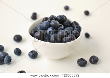 Blueberries In The Bowl On The White Background