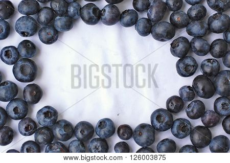 Frame From Blueberries On The White Background