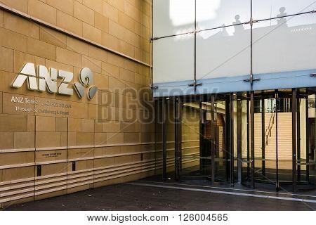 Sydney, Australia - Mar 26, 2016: ANZ Bank Centre building on Pitt street. ANZ Bank Centre is a Premium Grade commercial office building in Sydney, Australia