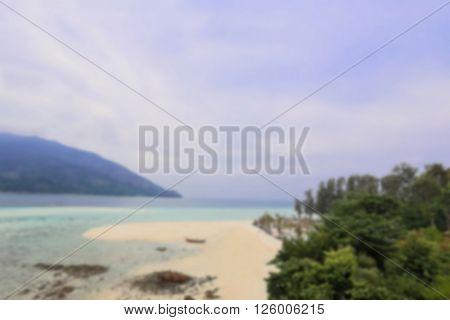de-focused beautiful tropical beach at Koh Lipe islannd Thailand