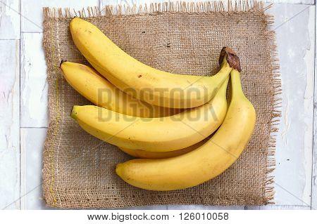 Bananas On The Gunny Cloth