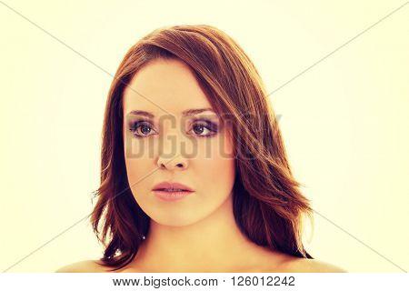 Young beautiful smiling woman.