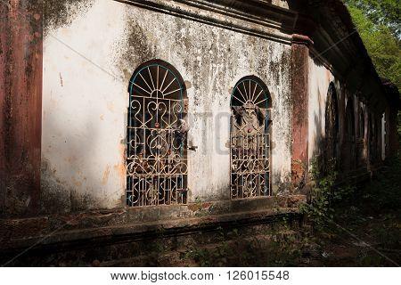 The old catholic church in Goa, India
