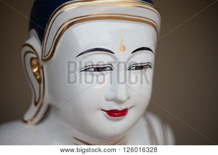 COTIA SP/BRAZIL: JUNE 4TH 2015 - Buddhist temple porcelain statue