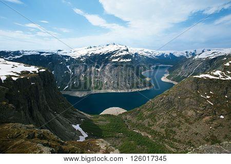Ringedalsvatnet lake  in Norway