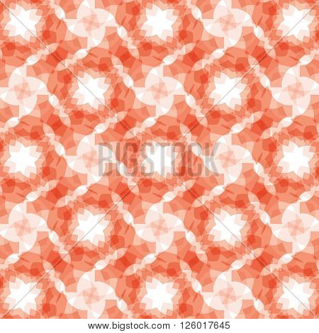 burgundy red geometric fractal seamless pattern on a white balckground