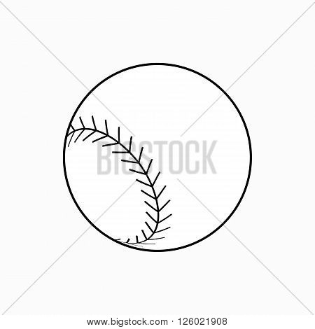 Baseball ball icon in isometric 3d style on a white background