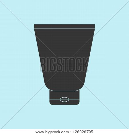 Cream Tube Icon. Cosmetic packaging plastic tube. Vector.