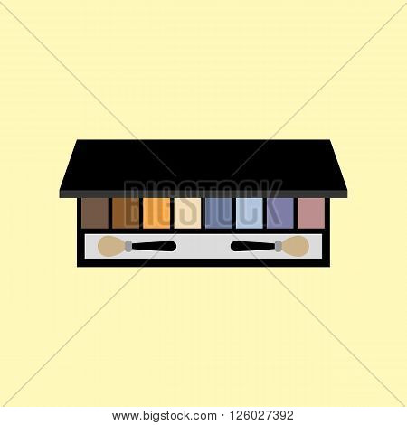 Eyeshadow palette make up. MakeUp kit. Eyeshadow Professional cosmetics. Vector illustration
