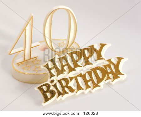 40th Birthday Sign In Gold