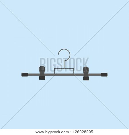 Trousers Hanger Icon. Clothes Hanger icon. Dress Hanger. Vector illustration