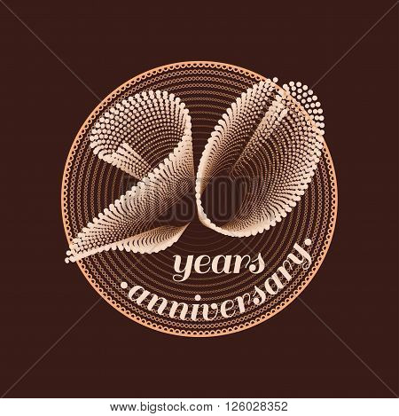 20 years anniversary vector icon. 20th celebration design. Golden jubilee symbol