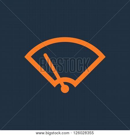 Windshield Wiper Icon. Car wiper. Single flat icon on blue background. Vector illustration.