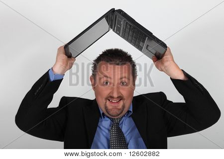 Portrait of a businessman angry
