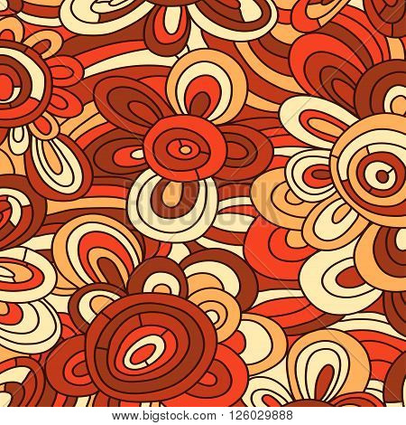 Seamless vetor floral pattern. For easy making seamless pattern just drag all group into swatches bar and use it for filling any contours.