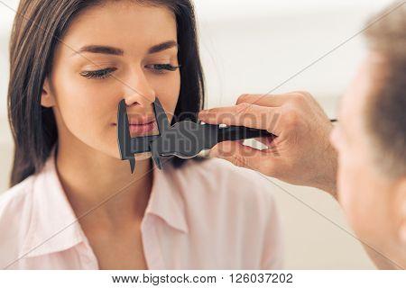 Woman At The Plastic Surgeon
