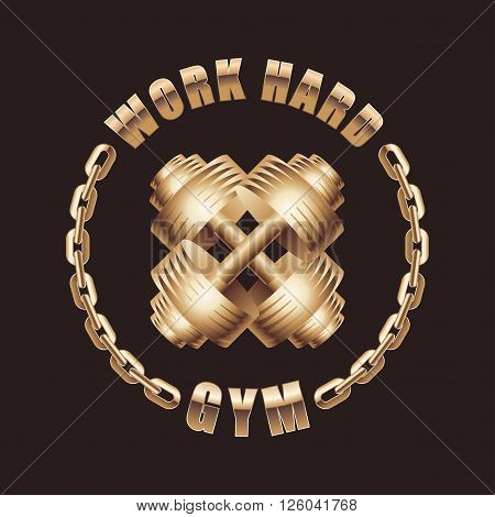 Gym vector logo. Sport concept illustration design element