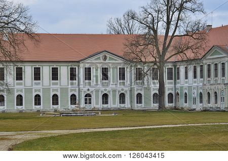 Jemcina decaying castle South Bohemia Czech Republic