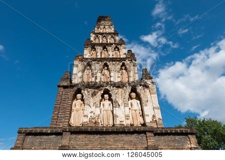 Wat Cham Thewi Is Thai Temple In Lamphun, Thailand