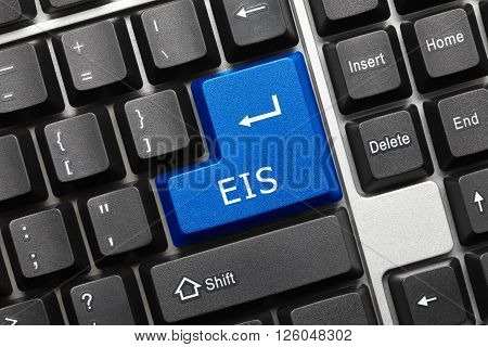Conceptual Keyboard - Eis (blue Key)