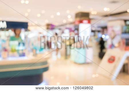 Department Store Shopping Mall, Image Blur Defocused Background