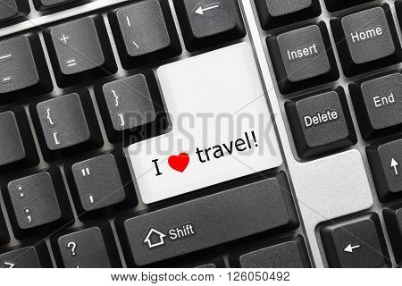 Conceptual Keyboard - I Love Travel Key