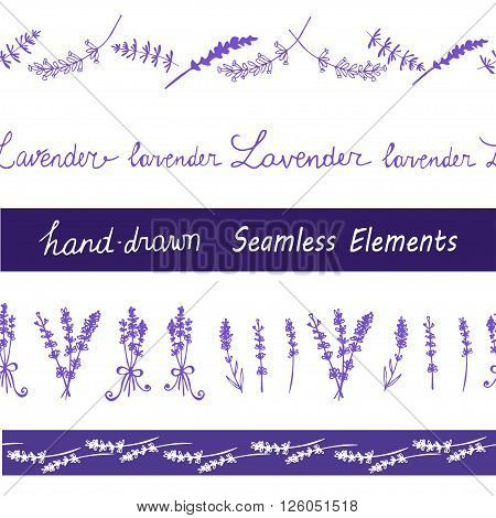 Lavender Seamless elements set for your design