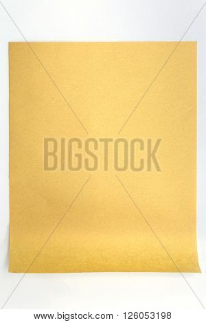 Brown Paper With Rolled End