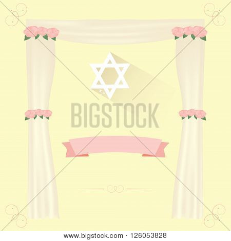 Jewish wedding elements for vector  invitation design.