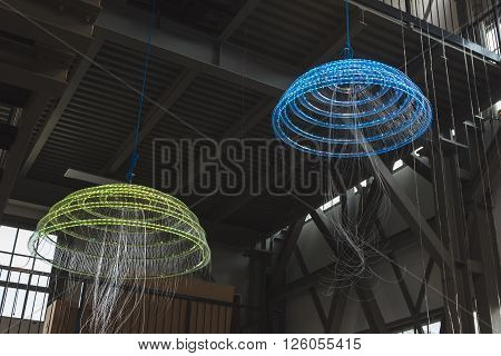 Jellyfish Installation On Dispaly At Fuorisalone 2016 In Milan, Italy