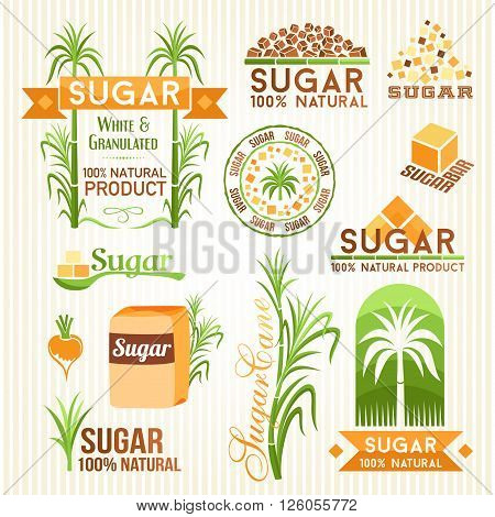 Sugar design elements. Emblems icons and labels.