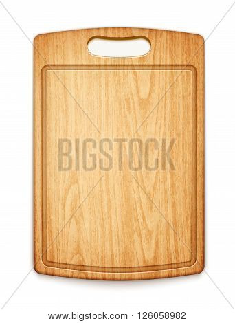 Wooden Cutting Board On White Background