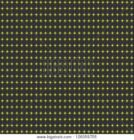 Synchronous with yellow stars on a dark background