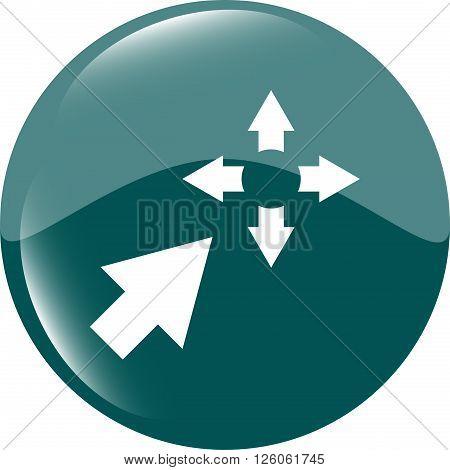Fullscreen Sign Icon. Arrows Symbol. Icon For App