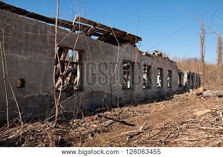 Destroyed Building