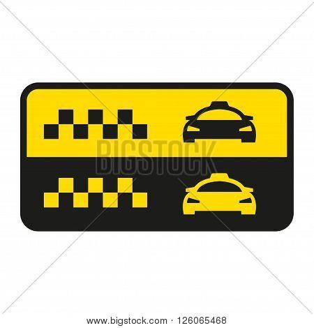 Vector taxi icon. Taxi car sign. Public transport symbol.
